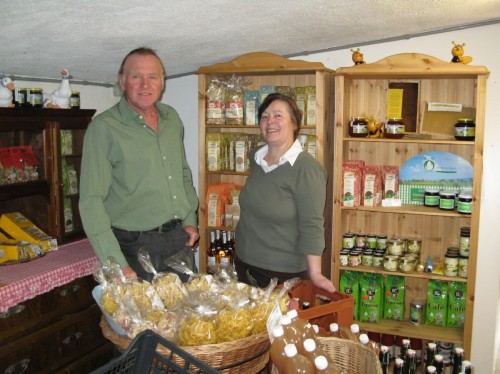 Martin and Elisabeth Wigger sell a wide range of organic products.