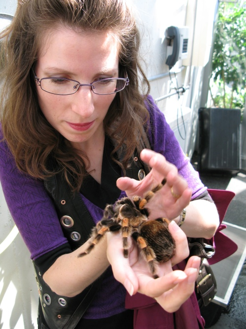 Me and my new tarantula friend Sophie