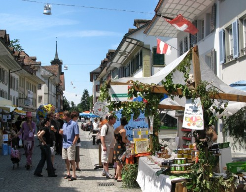 Zofingen is a great setting for an open-air market.