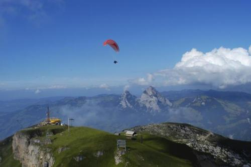 Paragliding over Fronalpstock in Canton Schwyz