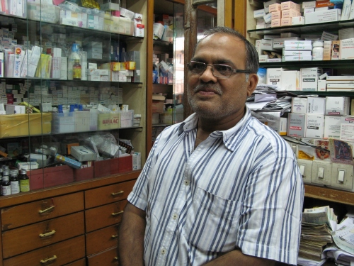 This pharmacy manager in Mumbai told me that some customers request generics to save money.
