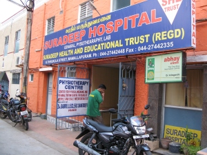 This hospital in Mamallapuram treats a lot of tourists.
