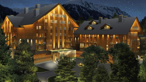 The Chedi Hotel, as it should look when finished. (© Andermatt Swiss Alps)