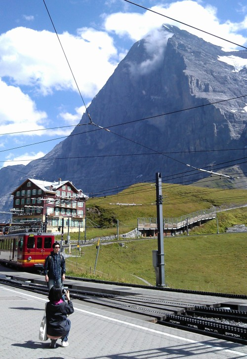 The Eiger North Face, as seen from Kleine Scheidegg © Susan Vogel-Misicka