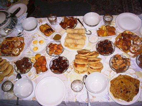 Ramadan, snacks
